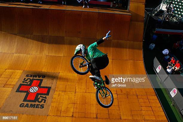 Chad Kagy competes in the BMX Freestyle Vert Final during X Games 15 at the Home Depot Center on August 1 2009 in Carson California