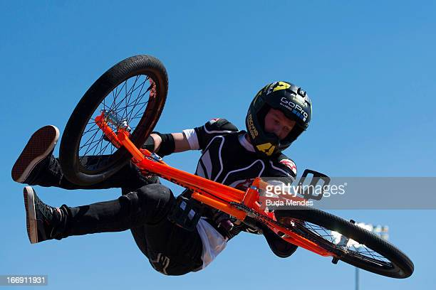 Chad Kagy of the United States in action during the BMX Freestyle Pratice at the XGames on April 18 2013 in Foz do Iguacu Brazil