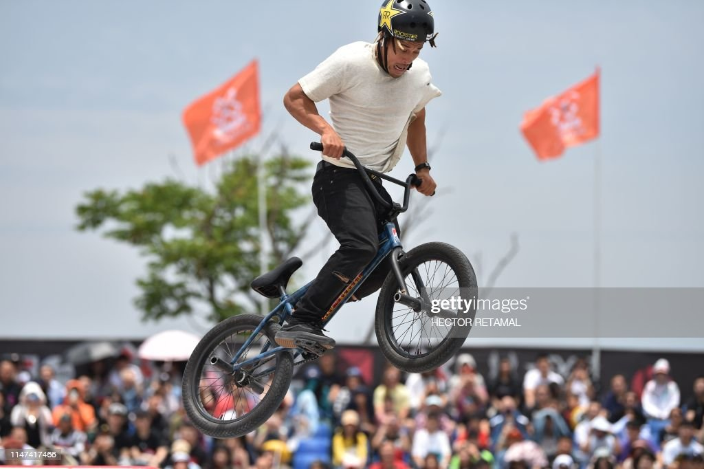 Chad Kerley competes in the bmx street final during the X Games
