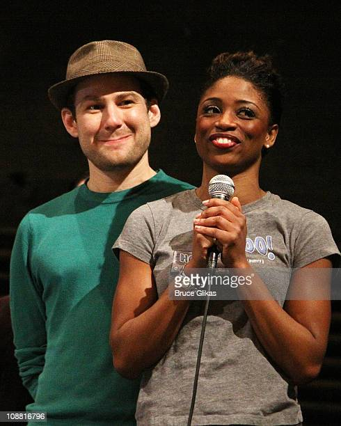 Chad Kimball and Montego Glover at a special performance of Memphis for Inspire Change presented by Audemars Piguet The Tony Awards Broadway Cares at...