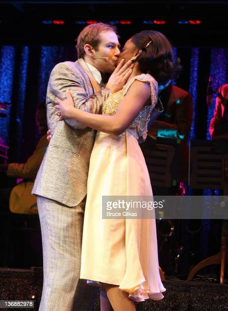 Chad Kimball and Montego Glover of the cast of Memphis perform at a special performance of Memphis for Inspire Change presented by Audemars Piguet...
