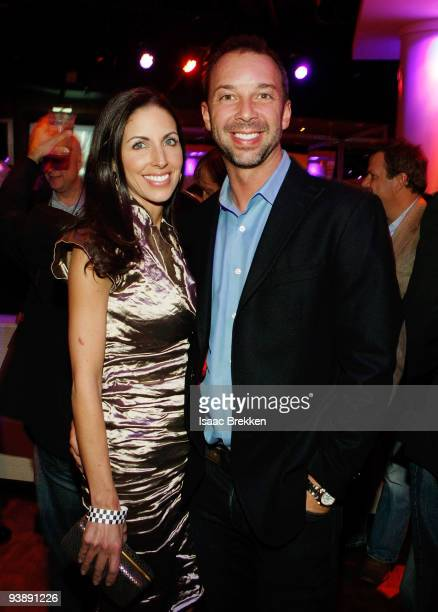 Chad Knaus and his girlfriend Lisa Rockelmann attend Sports Illustrated's Club SI NASCAR at PURE Nightclub at Caesars Palace on December 3 2009 in...