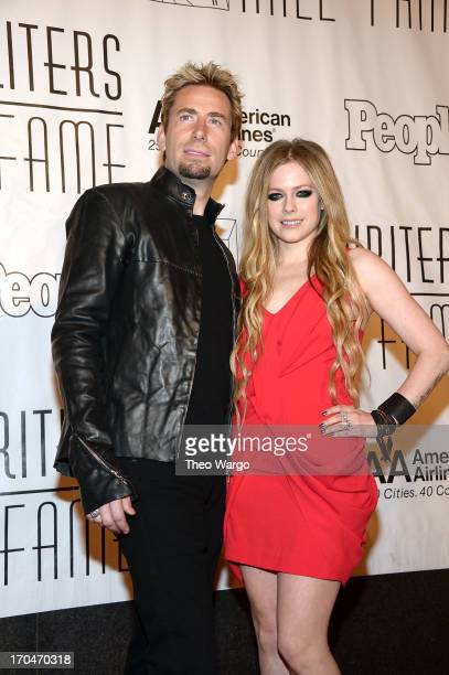 Chad Kroeger and Avril Lavigne attend the Songwriters Hall of Fame 44th Annual Induction and Awards Dinner at the New York Marriott Marquis on June...