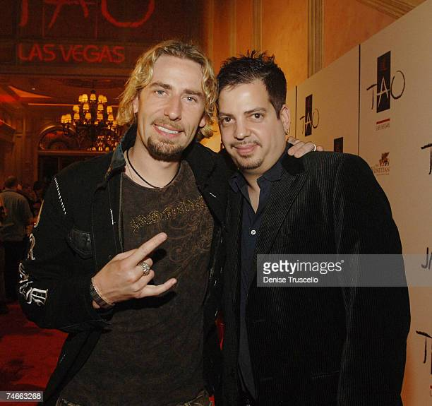 Chad Kroeger and Tommy Lipnick during TAO Las Vegas First Anniversary Weekend Janet Jackson Album Release Party Red Carpet Arrivals at the TAO Las...