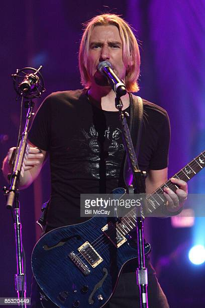 Chad Kroeger, lead singer for Nickelback performs live at The Wachovia Center March 9, 2009 in Philadelphia, Pennsylvania.