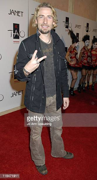 Chad Kroeger Nickelback during TAO Las Vegas First Anniversary Weekend Janet Jackson Album Release Party Red Carpet Arrivals at The Venetian Resort...