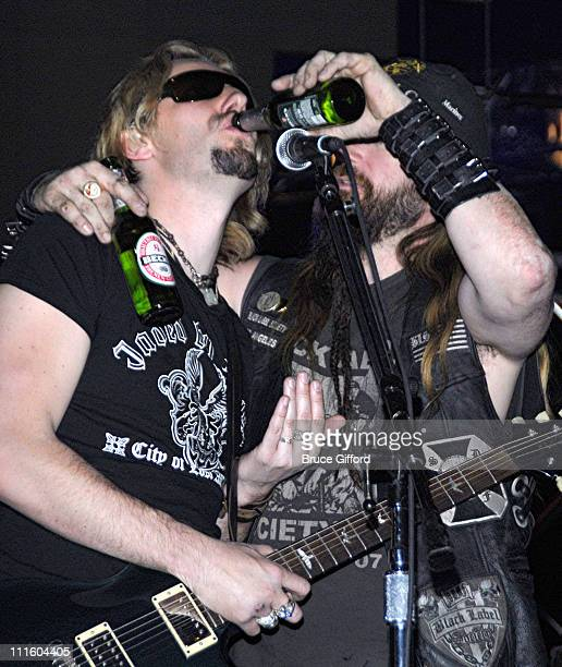 Chad Kroeger of Nickelback and Zakk Wylde during 2007 VH1 Rock Honors - Rehearsals - Day 1 at MGM Grand in Las Vegas, Nevada, United States.