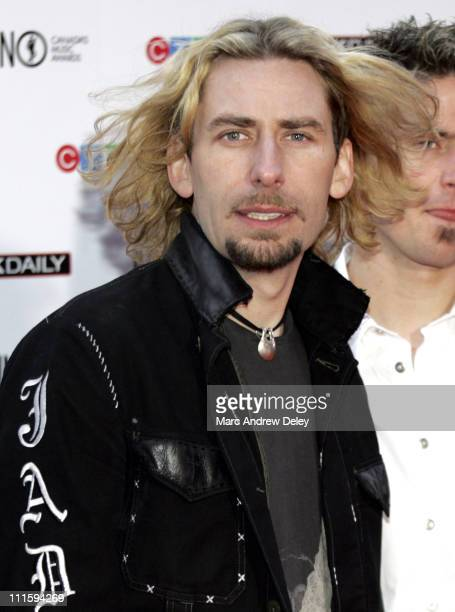 Chad Kroeger of Nickelback during 2006 JUNO Awards Red Carpet at Halifax Metro Centre in Halifax Nova Scotia Canada