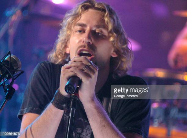 Chad Kroeger of Nickelback during Nickelback Visits MuchMusic Studios During Their Canadian Tour October 13 2005 at CHUM CITY TV Building in Toronto...