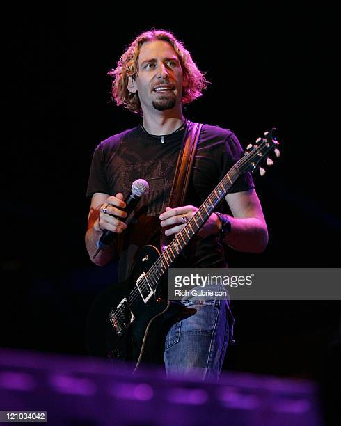 Chad Kroeger of Nickelback during Rock'n The Rally Day 3 August 8 2006 at Glencoe Campground in Sturgis South Dakota United States