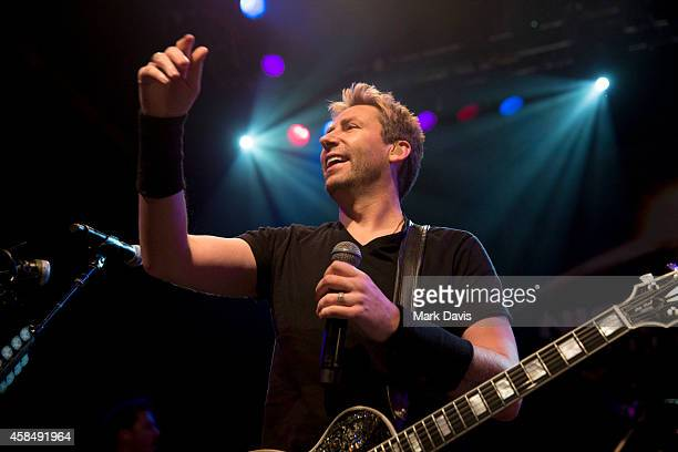 Chad Kroeger of Nickelback performs on stage at the special announcement and live performance at the House of Blues on the Sunset Strip November 5...