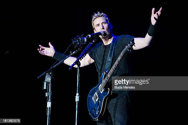 Chad Kroeger of Nickelback performs on stage during a concert in the Rock in Rio Festival on September 20 2013 in Rio de Janeiro Brazil