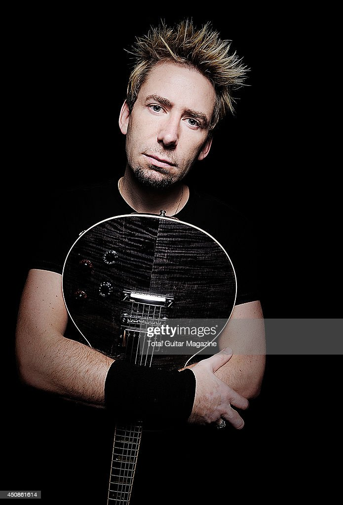 Chad Kroeger, vocalist and lead guitarist of Canadian rock band Nickelback, photographed during a portrait shoot for Total Guitar Magazine, October 7, 2012.