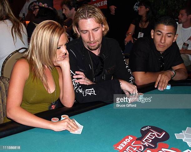 Chad Kroeger with fiancee Marianne during Vegas Rock Star Poker Tournement 2005 August 26 2005 The Palms Hotel and Casino Resort Las Vegas Nevada at...