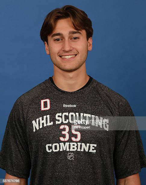 Chad Krys poses for a headshot at the 2016 NHL Combine on June 2 2016 at Harborcenter in Buffalo New York