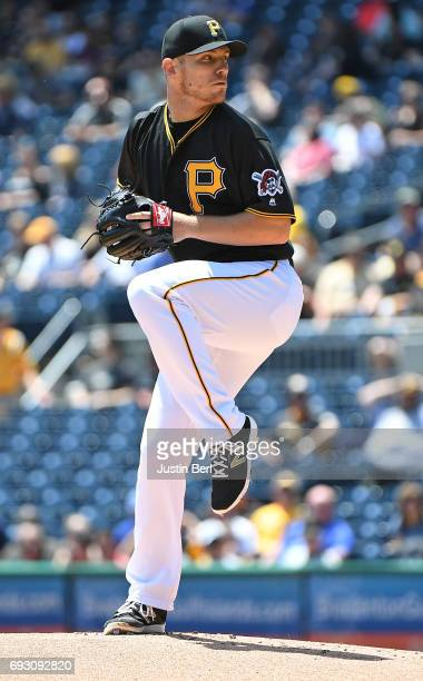 Chad Kuhl of the Pittsburgh Pirates delivers a pitch during the game against the Arizona Diamondbacks at PNC Park on May 31 2017 in Pittsburgh...