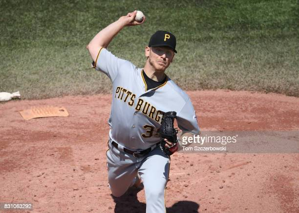 Chad Kuhl of the Pittsburgh Pirates delivers a pitch in the first inning during MLB game action against the Toronto Blue Jays at Rogers Centre on...