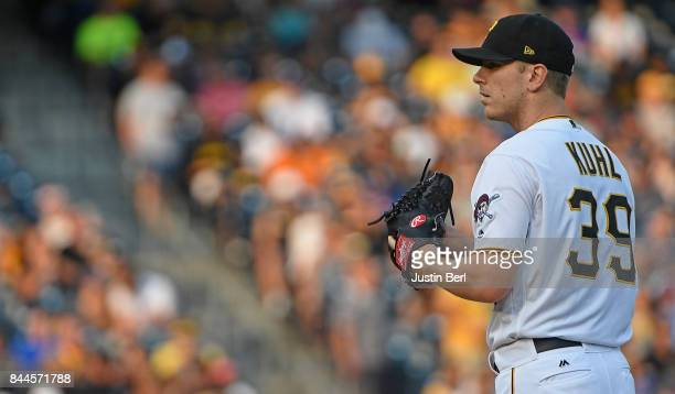 Chad Kuhl of the Pittsburgh Pirates in action during the game against the Chicago Cubs at PNC Park on September 4 2017 in Pittsburgh Pennsylvania