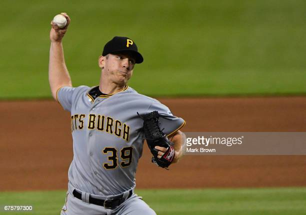 Chad Kuhl of the Pittsburgh Pirates in action during the game between the Miami Marlins and the Pittsburgh Pirates at Marlins Park on April 30 2017...