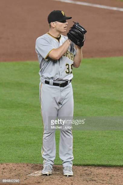 Chad Kuhl of the Pittsburgh Pirates pitches during a baseball game against the Baltimore Orioles at Oriole Park at Camden Yards on June 7 2017 in...