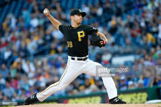 Chad Kuhl of the Pittsburgh Pirates pitches in the first inning against the New York Mets at PNC Park on May 26 2017 in Pittsburgh Pennsylvania