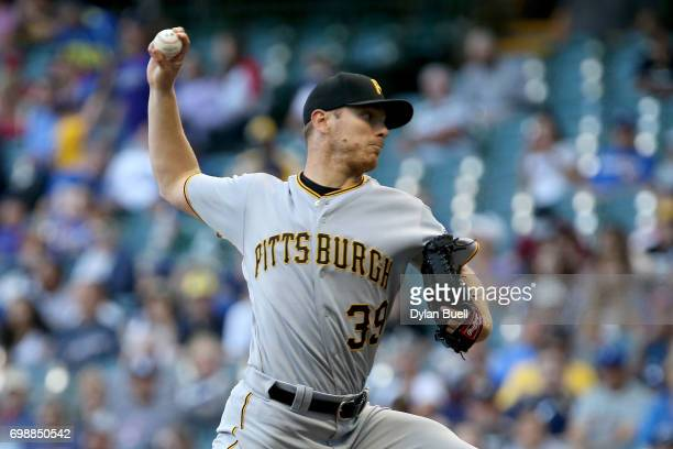 Chad Kuhl of the Pittsburgh Pirates pitches in the second inning against the Milwaukee Brewers at Miller Park on June 20 2017 in Milwaukee Wisconsin