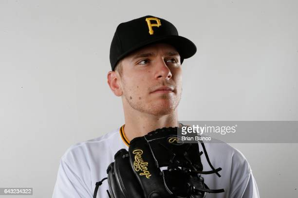 Chad Kuhl of the Pittsburgh Pirates poses for a photograph during MLB spring training photo day on February 19 2017 at Pirate City in Bradenton...