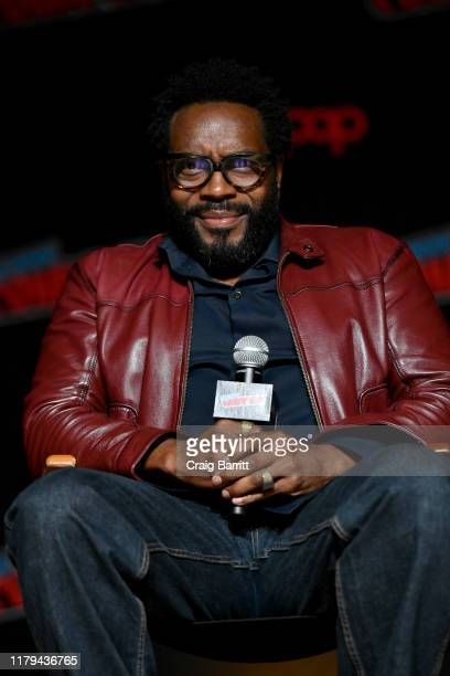 Chad L Coleman speaks on stage during Hulu's The Orville at New York Comic Con 2019 Day 4 at Jacob K Javits Convention Center on October 06 2019 in...