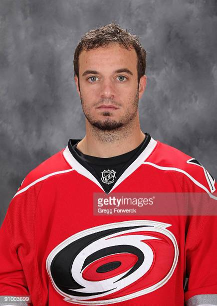 Chad LaRose of the Carolina Hurricanes poses for his official headshot for the 20092010 NHL season