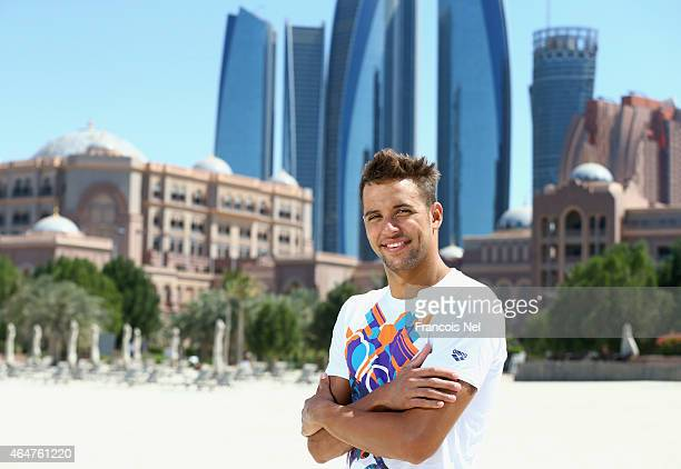 Chad le Clos FINA Male Swimmer of the Year 2014 pose for a photograph during the Abu Dhabi Swimming Festival by Daman's ActiveLife at Emirates Palace...