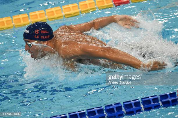 Chad Le Clos of Energy Standard competes in the Men's 200m Butterfly during the day two of the second match of the International Swimming League Chad...