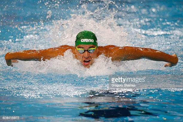 Chad Le Clos of South Africa competes in the 100m Butterfly semifinal on day two of the 13th FINA World Swimming Championships at the WFCU Centre on...