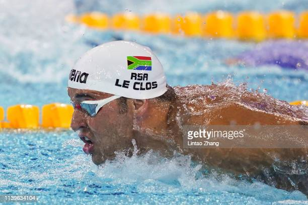 Chad Le Clos of South Africa competes in the Men's 200m Butterfly final during the FINA Champions Swim Series - Guangzhou at Guangdong Olymipic...