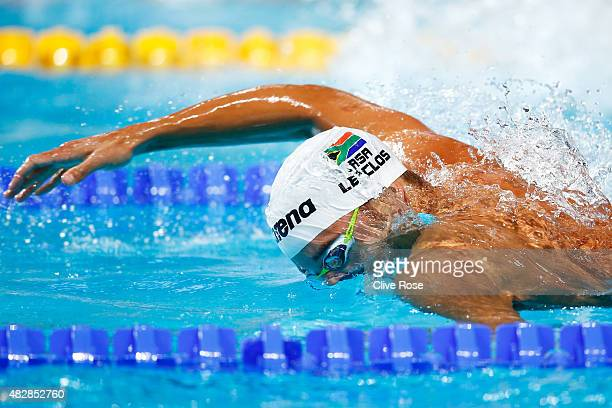 Chad le Clos of South Africa competes in the Men's 200m Freestyle Semifinal on day ten of the 16th FINA World Championships at the Kazan Arena on...