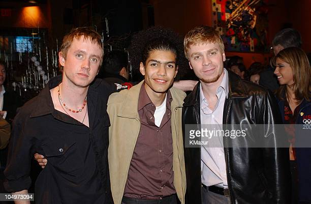 Chad Lindberg Rick Gonzalez and Angelo Spizzirri during 'The Rookie' New York City Premiere at Astor Plaza Theatre in New York City New York United...