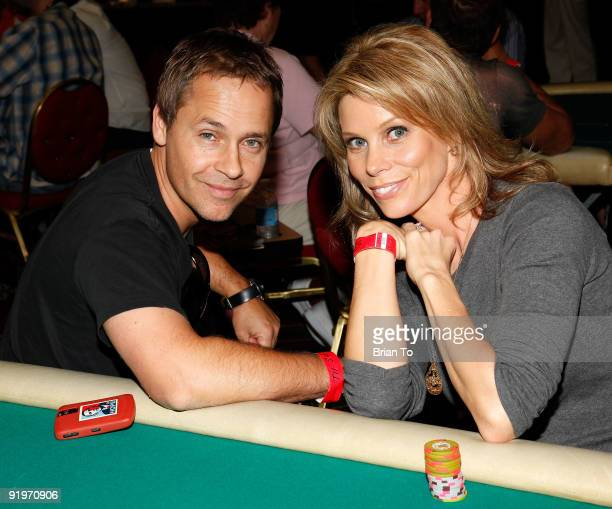 Chad Lowe and Cheryl Hines attends Children's Institute Hosts 'Poker For A Cause' Celebrity Poker Tournament at Commerce Casino on October 17 2009 in...