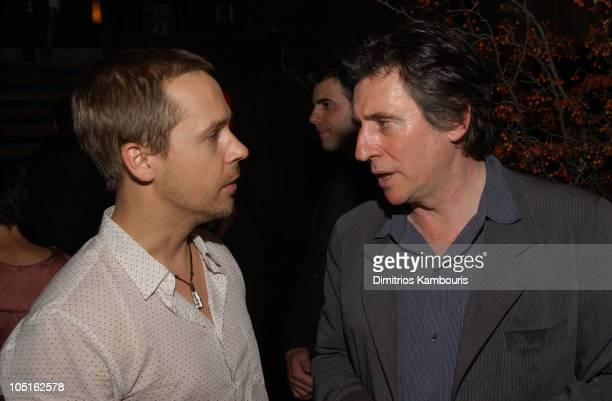 Chad Lowe and Gabriel Byrne during MercedesBenz Fashion Week Spring 2004 Marc Jacobs After Party at Maritime Hotel in New York City New York United...