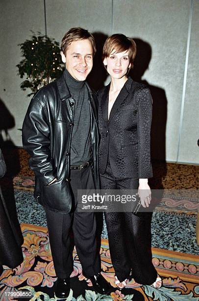 Chad Lowe and Hilary Swank during 2000 NATO/Showest Convention at Paris Hotel in Las Vegas, Nevada, United States.