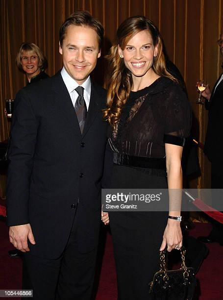 Chad Lowe and Hilary Swank during 57th Annual Directors Guild of America Awards Arrivals at Beverly Hilton Hotel in Beverly Hills California United...