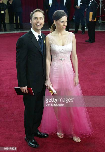 Chad Lowe and Hilary Swank during The 75th Annual Academy Awards Arrivals at The Kodak Theater in Hollywood California United States