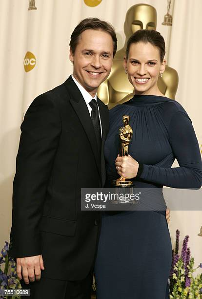 Chad Lowe and Hilary Swank winner Best Actress in a Leading Role for Million Dollar Baby at the Kodak Theatre in Hollywood California