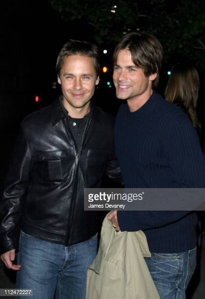 Chad Lowe and Rob Lowe during Celebrities Attend Sting's 52nd Birthday Party at Upper West Side in New York City New York United States