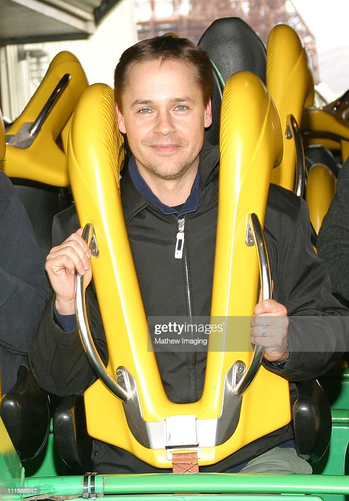 Chad Lowe during Rob and Chad Lowe ride 'Riddler,' at Six Flags Magic Mountain at Six Flags Magic Mountain in Valencia, CA, United States.