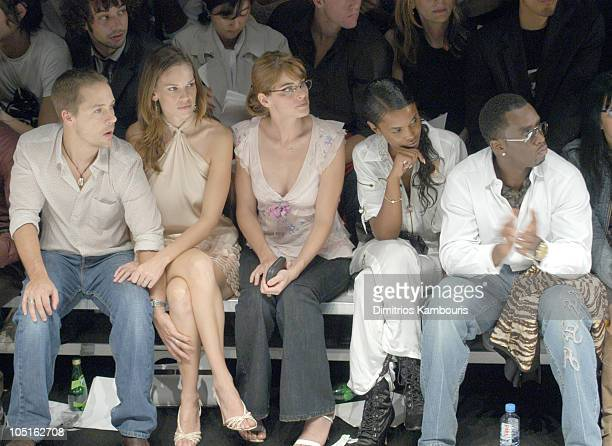 Chad Lowe Hilary Swank Amanda Peet Kim Porter Sean PDiddy Combs and Anna Sui
