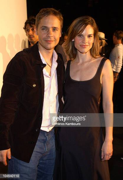 Chad Lowe Hilary Swank during MercedesBenz Fashion Week Spring Collections 2003 Marc Jacobs Show Arrivals at Maritime Hotel in New York City New York...