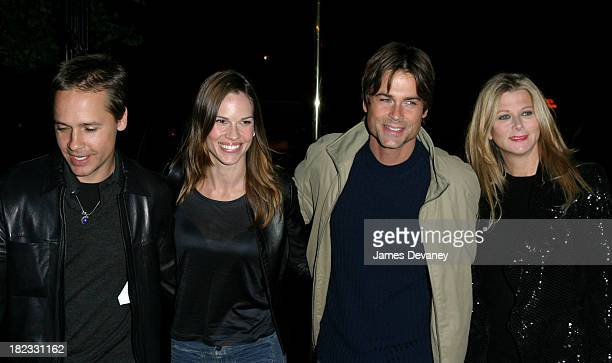 Chad Lowe Hilary Swank Rob Lowe and wife during Celebrities Attend Sting's 52nd Birthday Party at Upper West Side in New York City New York United...