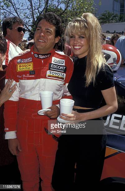 Chad McQueen and Stacey Totten during 1987 Toyota ProCelebrity Grand Prix Classic at Long Beach Raceway in Long Beach California United States