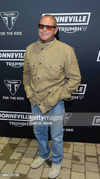 Chad McQueen attends the Global Triumph Bonneville launchon October 28 2015 in London England