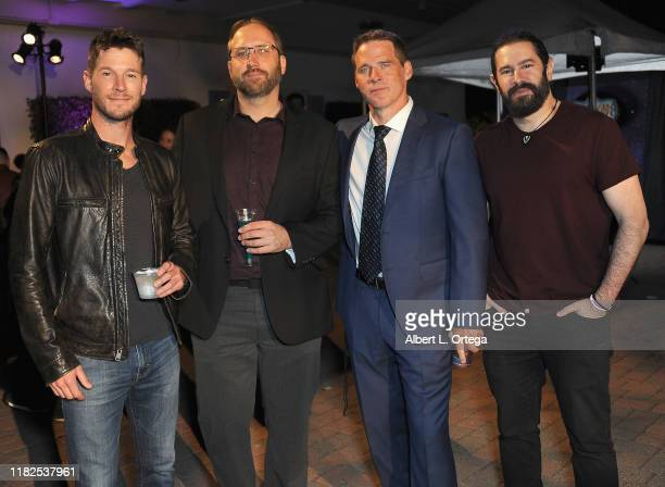Chad Michael Collins, Doug Pasko, Ben Browder and Rafael Jordan attend Farscape - The Uncharted Territories: A 20th Anniversary Celebration held at...