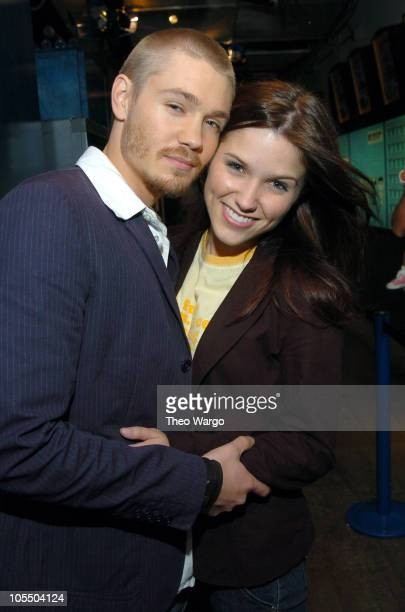 Chad Michael Murray and fiancee Sophia Bush during Hilary Duff and Chad Michael Murray Visit MTV's 'TRL' July 15 2004 at MTV Studios Times Square in...